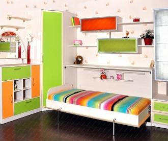 """Детская комната с подъёмной кроватью """"Лето"""""""